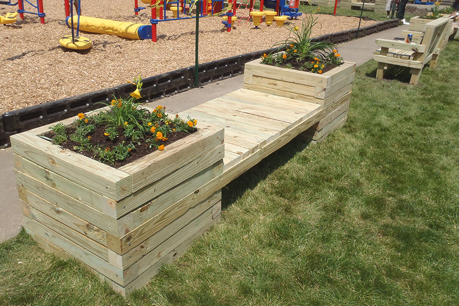 How To Build A Planter Bench Kaboom