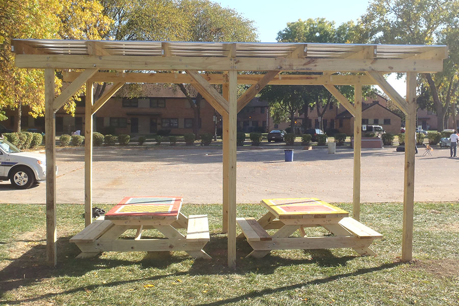 How To Build A Double Shade Structure With Metal Roof