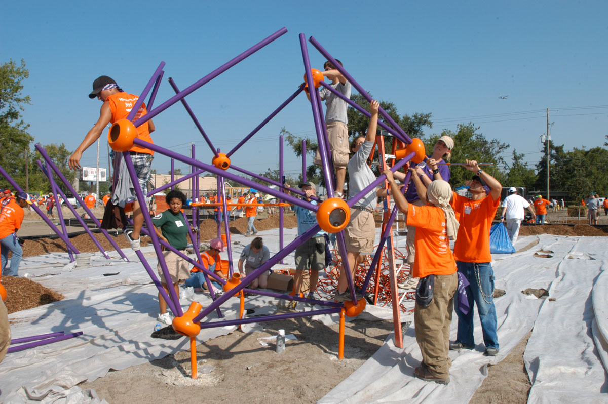 Operation Playground build ten playgrounds in four days
